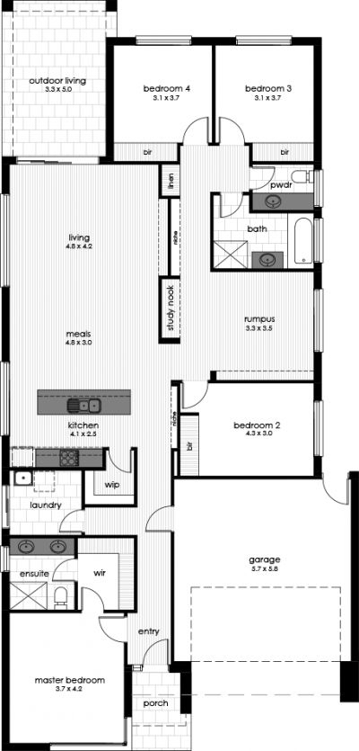 Ballara Display Home Floorplan
