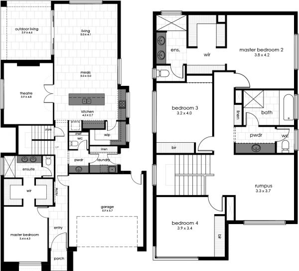 Bosworth 2 Display Home Floorplan