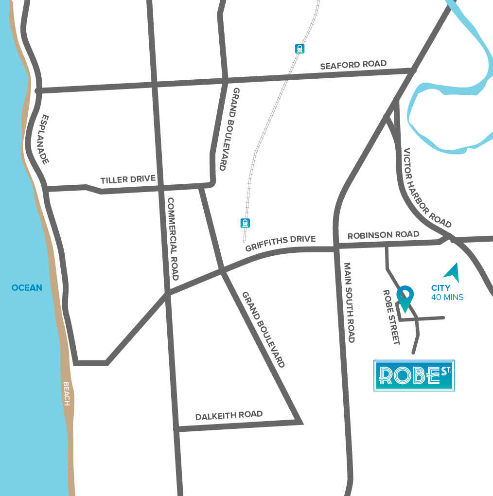 Robe Street Location Map
